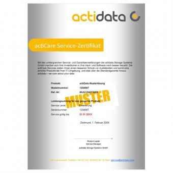 1 an de service sur site actiCare