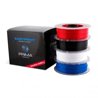 EasyPrint PLA Value Pack Standard, 1,75mm, 4 x 500g, weis / schwarz / rot / blau