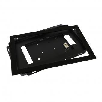 Touch Display Tablet 15,6 Zoll zbh. Einbauset Einbaurahmen + Blende Schwarz Schmal