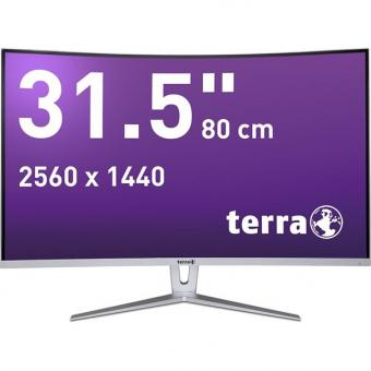 LCD/LED 3280W silver/white CURVED DP/HDMI