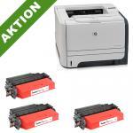 xChange Printer HP LaserJet P2055dn mit 3 SuperCart Toner