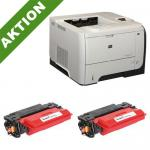 xChange Printer HP LaserJet P3015dn mit 2 SuperCart Plus Toner