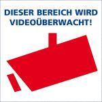 Aufkleber 'Videoüberwachung'